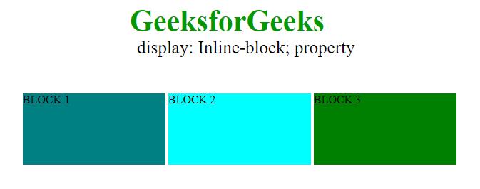 display inline block
