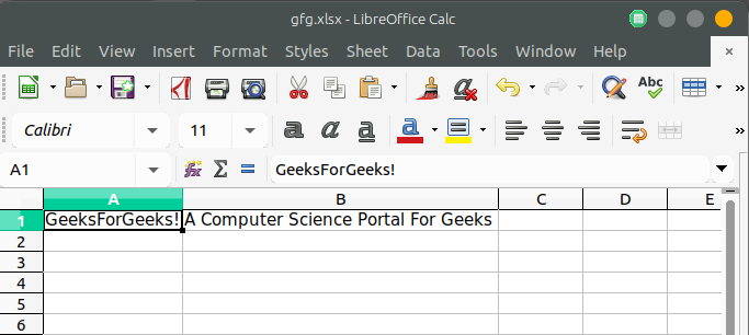 PHP | Spreadsheet - GeeksforGeeks