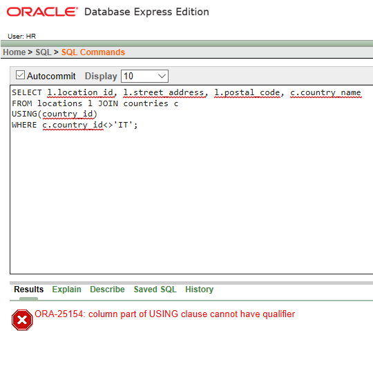 SQL | USING Clause - GeeksforGeeks