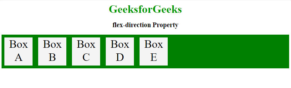 flex-direction property
