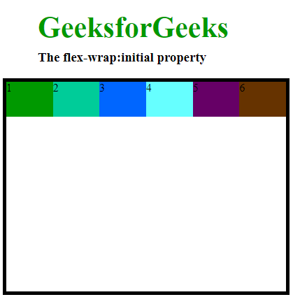 flex wrap property