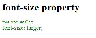 font-size property