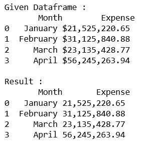 Formatting integer column of Dataframe in Pandas - GeeksforGeeks