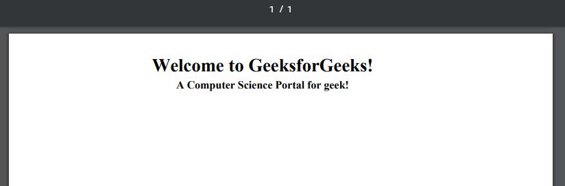 PHP | FPDF-PDF Generator - GeeksforGeeks