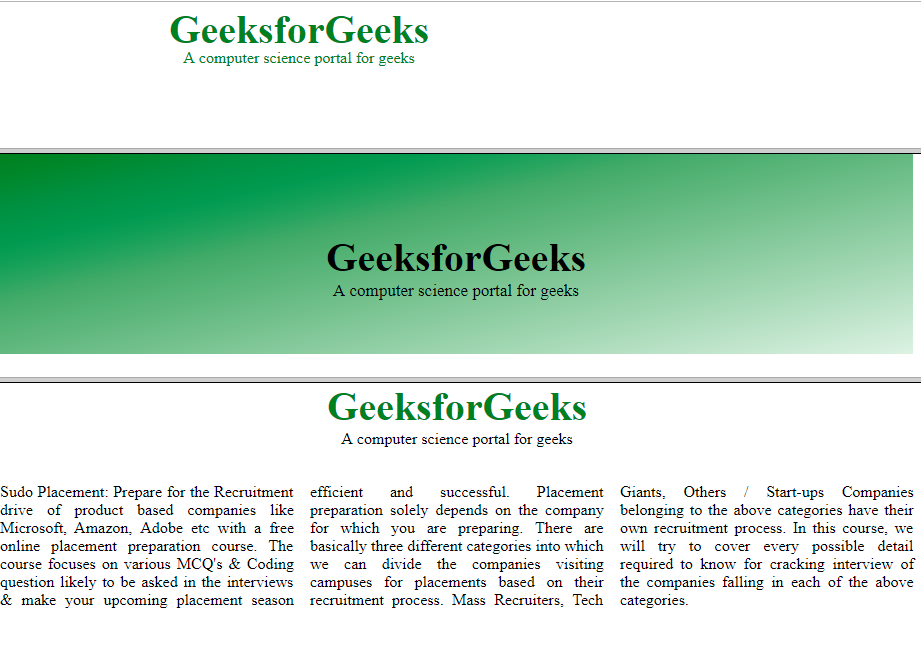 HTML | <frame> Tag - GeeksforGeeks