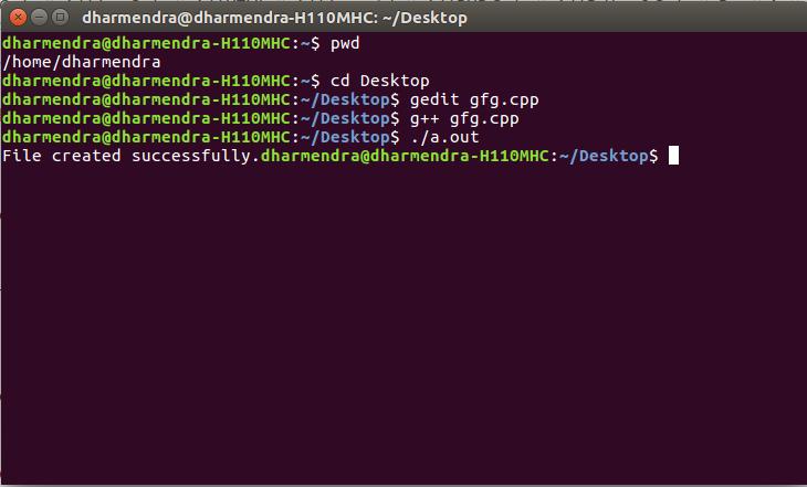 C++ program to create a file - GeeksforGeeks