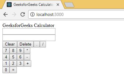 ReactJS | Calculator App ( Building UI ) - GeeksforGeeks