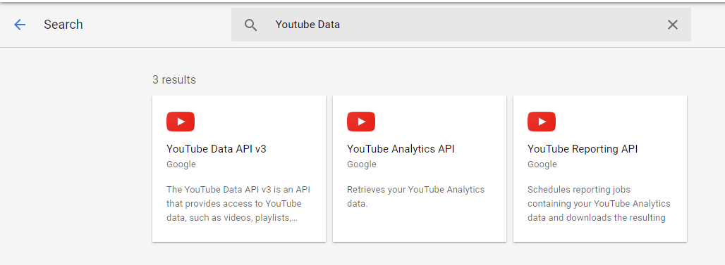 Youtube Data API for handling videos | Set-5 - GeeksforGeeks