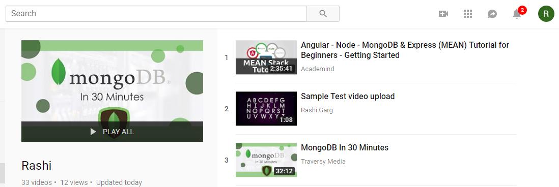 Youtube Data API Playlist | Set-4 - GeeksforGeeks