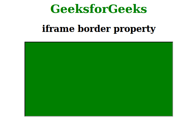 Remove border from IFrame using CSS - GeeksforGeeks