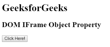 HTML | DOM IFrame Object - GeeksforGeeks