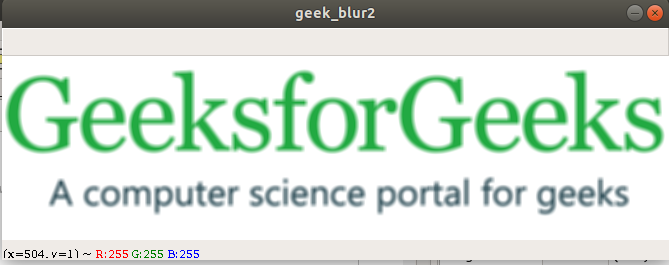 What is Image Blurring - GeeksforGeeks