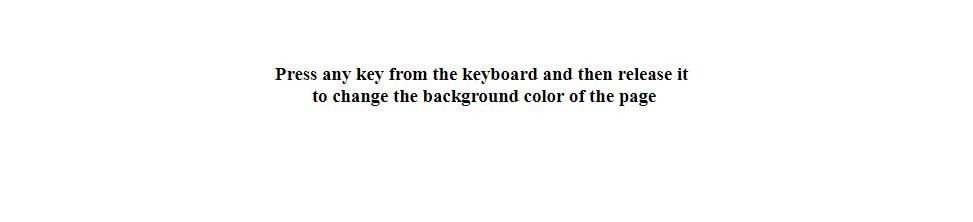 Keyup method Output