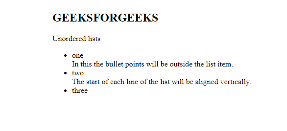 CSS | LISTS - GeeksforGeeks