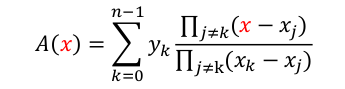 Lagrange's formula