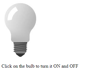 Turn On Or Off Bulb Using Javascript Geeksforgeeks