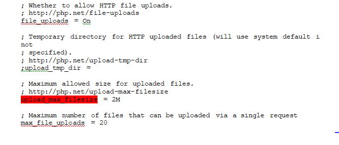 How to change the maximum upload file size in PHP