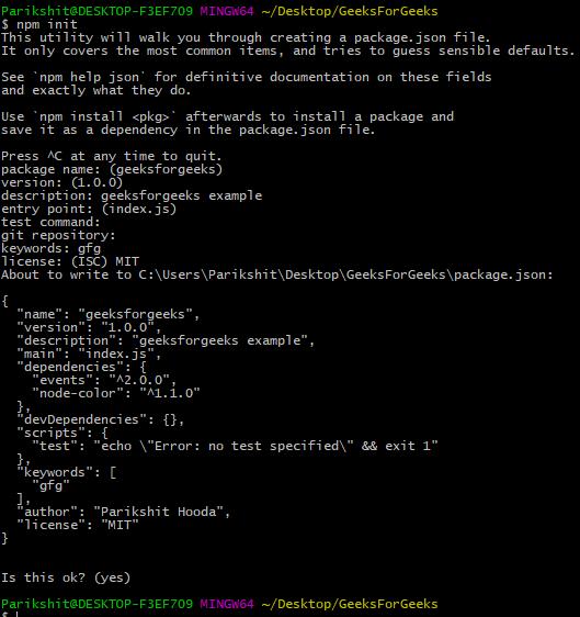 Node js | NPM (Node Package Manager) - GeeksforGeeks