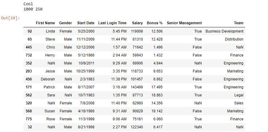 Python | Pandas Dataframe sample() - GeeksforGeeks