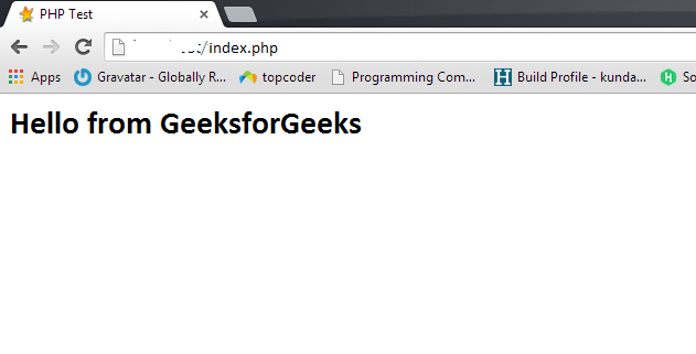 Create a web server and run PHP script on it using Raspberry