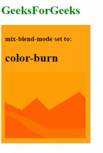 mix-blend-mode: color-burn