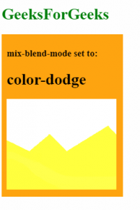 mix-blend-mode: color-dodge