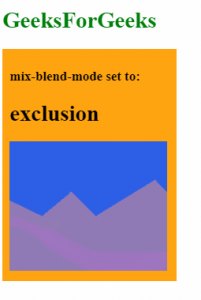 mix-blend-mode: exclusion