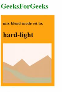 mix-blend-mode: hard-light