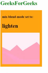 mix-blend-mode: lighten
