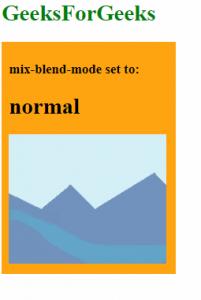 mix-blend-mode: normal