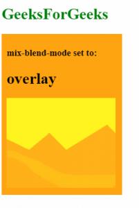 mix-blend-mode: overlay