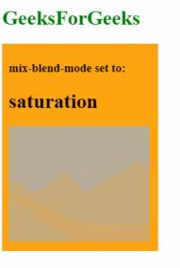 mix-blend-mode: saturation