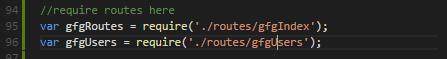 routes requires