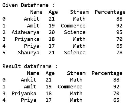 Selecting rows in pandas DataFrame based on conditions - GeeksforGeeks