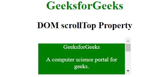 HTML | DOM scrollTop Property - GeeksforGeeks