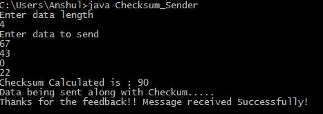 Implementing Checksum Using Java Geeksforgeeks