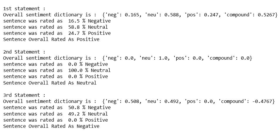 Python | Sentiment Analysis using VADER - GeeksforGeeks