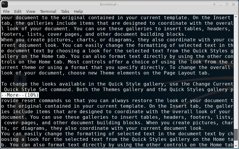 مدیریت کانفیگ سرور دامنه | linux more command tutorial for.