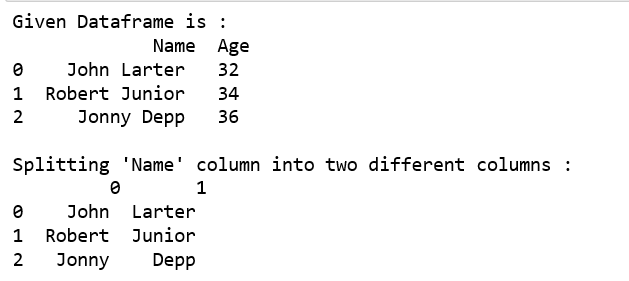 Split a text column into two columns in Pandas DataFrame