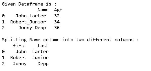 Split a text column into two columns in Pandas DataFrame - GeeksforGeeks