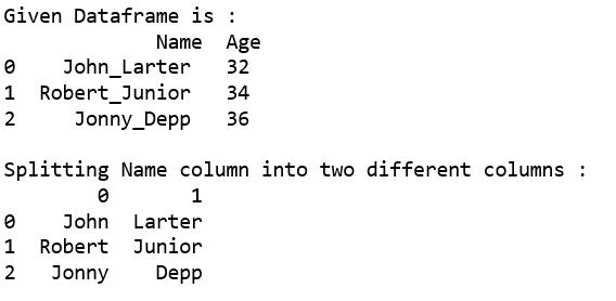 Split a text column into two columns in Pandas DataFrame