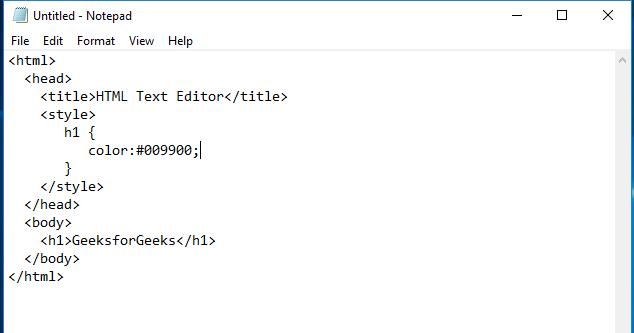 write html code
