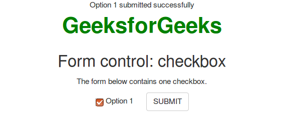 How to read if a checkbox is checked in PHP? - GeeksforGeeks