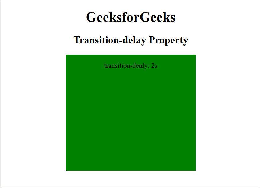 CSS   transition-delay Property - GeeksforGeeks