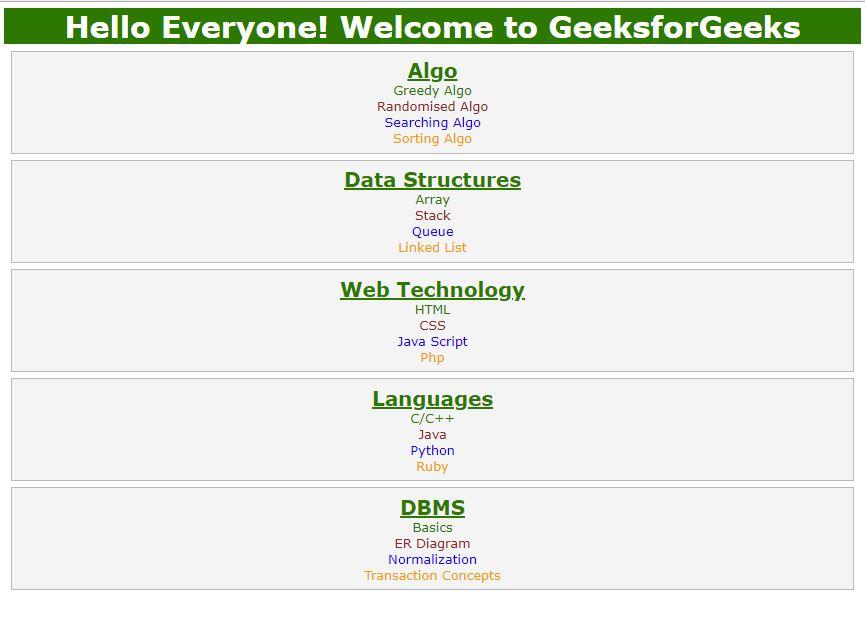 Displaying XML Using CSS - GeeksforGeeks