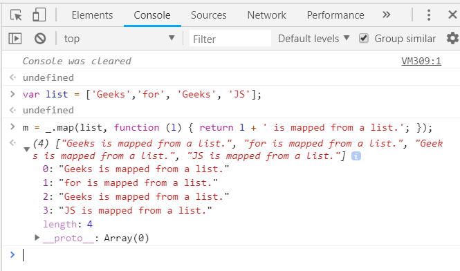 Underscore js | map() with Examples - GeeksforGeeks